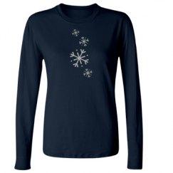 Snowflake Junior Fit Ladies Long Sleeve
