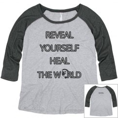 REVEAL Yourself 3/4 Sleeve Plus Size T-shirt
