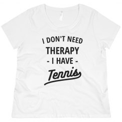 Tennis is Therapy Plus Tee