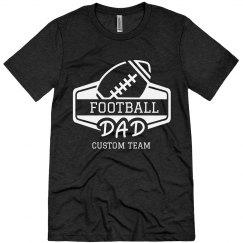 Football Dad Custom Team Triblend Tee