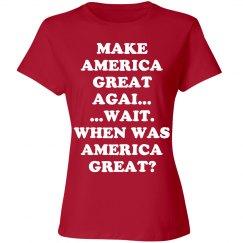 Make America Great Again?