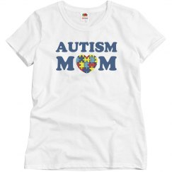Autism Mom Puzzle Heart