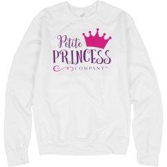 Adult white sweatshirt PPC logo