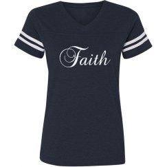 Faith V-neck Tee