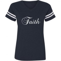 Faith V-neck Tee
