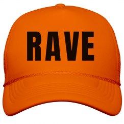 Rave Neon Orange Hat
