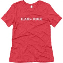 LADIES RELAXED FIT SUPER SOFT TRIBLEND TEE - SOFT RED