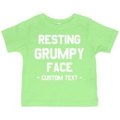 Custom Resting Grinch Face Toddler