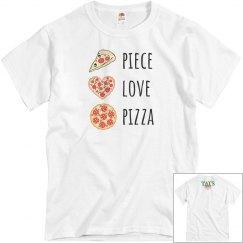 Piece, Love & Pizza Unisex grey