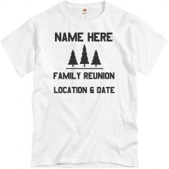 Custom Family Reunion Pine Trees