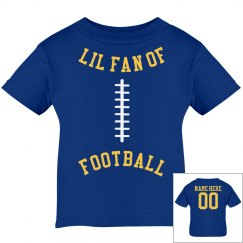 Little Football Fan With Custom Name Number