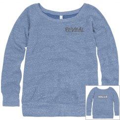 Value Wide Neck Slouchy Sweatshirt