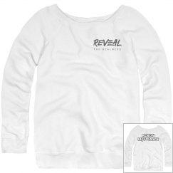 RENEW, REJUVENATE Wide Neck Slouchy Sweatshirt