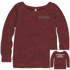 ACKNOW. ACCEPT APPRECIATE Wide Neck Slouchy Sweatshirt