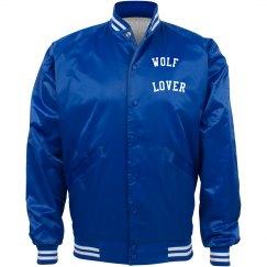 WOLF LOVER BASEBALL JACKET