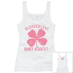 Women's Tank in white with logo on back