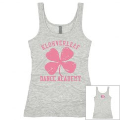 Women's Tank in Heather grey with logo on the back