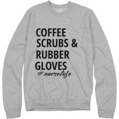 Coffee Scrubs & Rubber Glovee