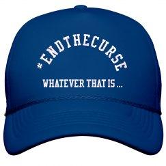 End the Curse Hat ROYAL BLUE1
