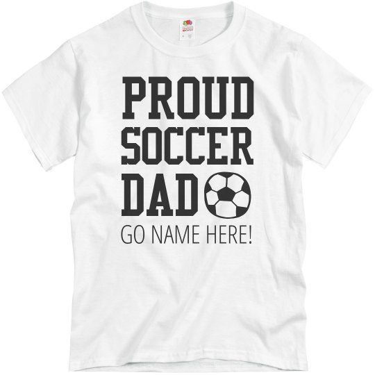 c1e127fb This Soccer Dad Is Proud Shirt Unisex Basic Promo T-Shirt