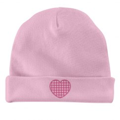 Heart beanie for infant