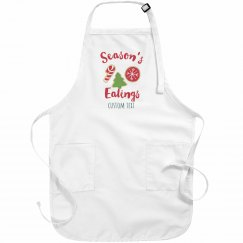 Season's Eatings Custom Christmas Apron
