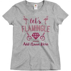 Custom Funny Let's Flamingle