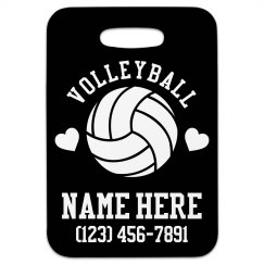 Volleyball Lover Custom Travel Tag