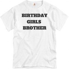 Birthday girls brother