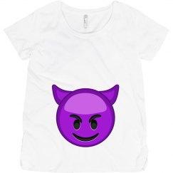 Devil Emoji Maternity Tee