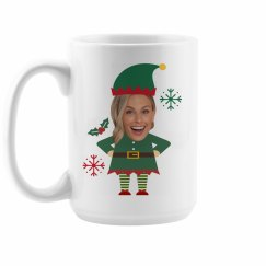 Custom Photo Upload Elf Mugs