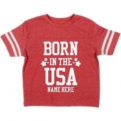 Custom Born in the USA Toddler