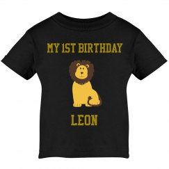 Leon's infant bday shirt