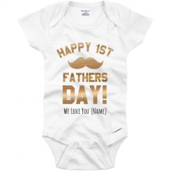 Metallic Custom Father's Day Onesie