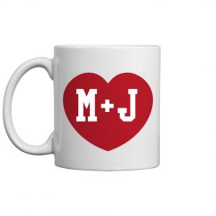 Custom Couple Initials Mug