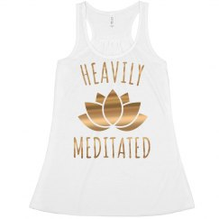 Heavily Meditated Metallic Yoga Crop