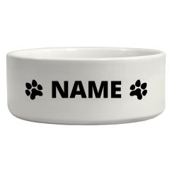 Custom Dog Name Water Bowl