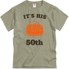 It's his 50th birthday