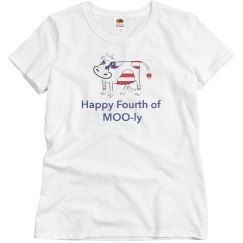 Fourth of July Cow