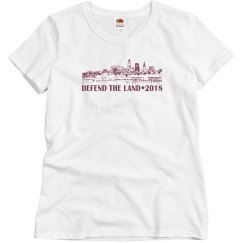 Defend the Land Cleveland Basketball 2018 Ladies Shirt