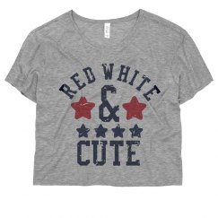 This Girl Is Red White & Cute