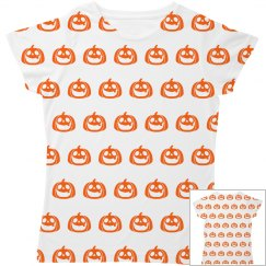 Pumpkin Print Toddler Tee
