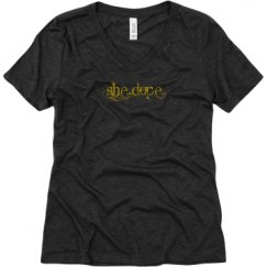 Ladies Relaxed Fit Super Soft Triblend V-Neck Tee