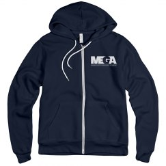 Unisex Fleece Zip Up- Front Logo