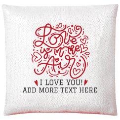 Love Is In The Air Custom Sequin Pillowcase