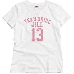 Team Bride Striped Sleeve
