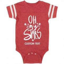 Custom Oh My Stars Sporty Onesie