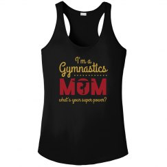 Metallic Gymnastics Super Mom