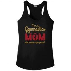Metallic Gymnastics Super Mom
