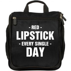 Red Lipstick Everyday Makeup Bag